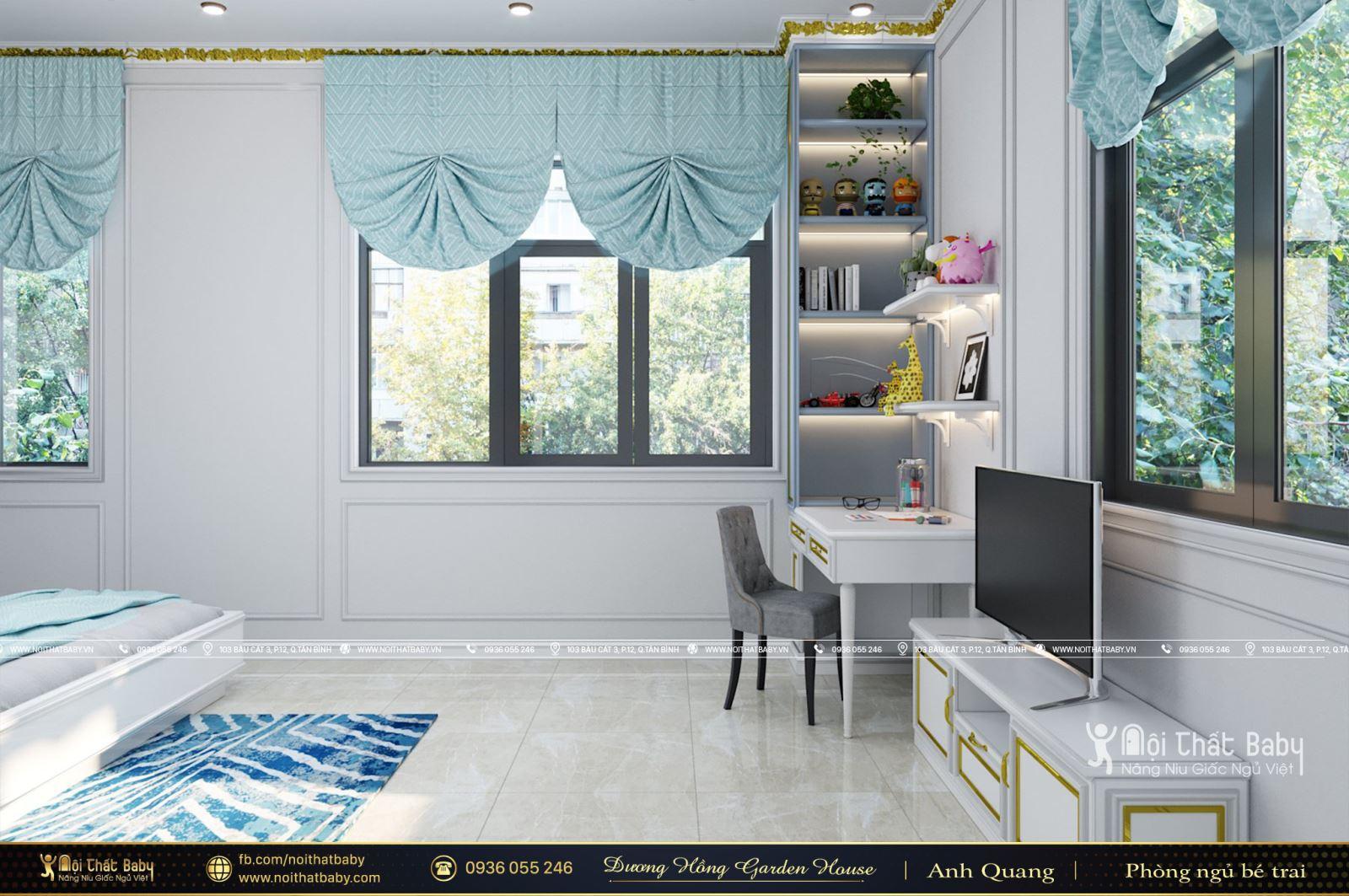 Phòng ngủ bé trai tân cổ điển tại khu dân cư Dương Hồng Garden House