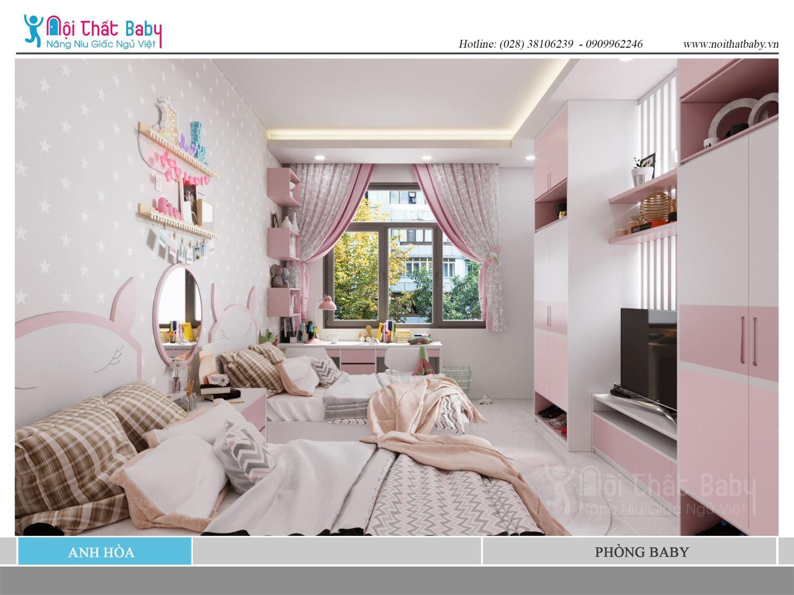 Phòng Baby dễ thương siêu đáng yêu
