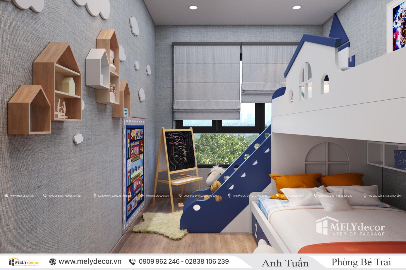 Thiết kế nội thất căn 106m2 chung cư Emerald Celadon City