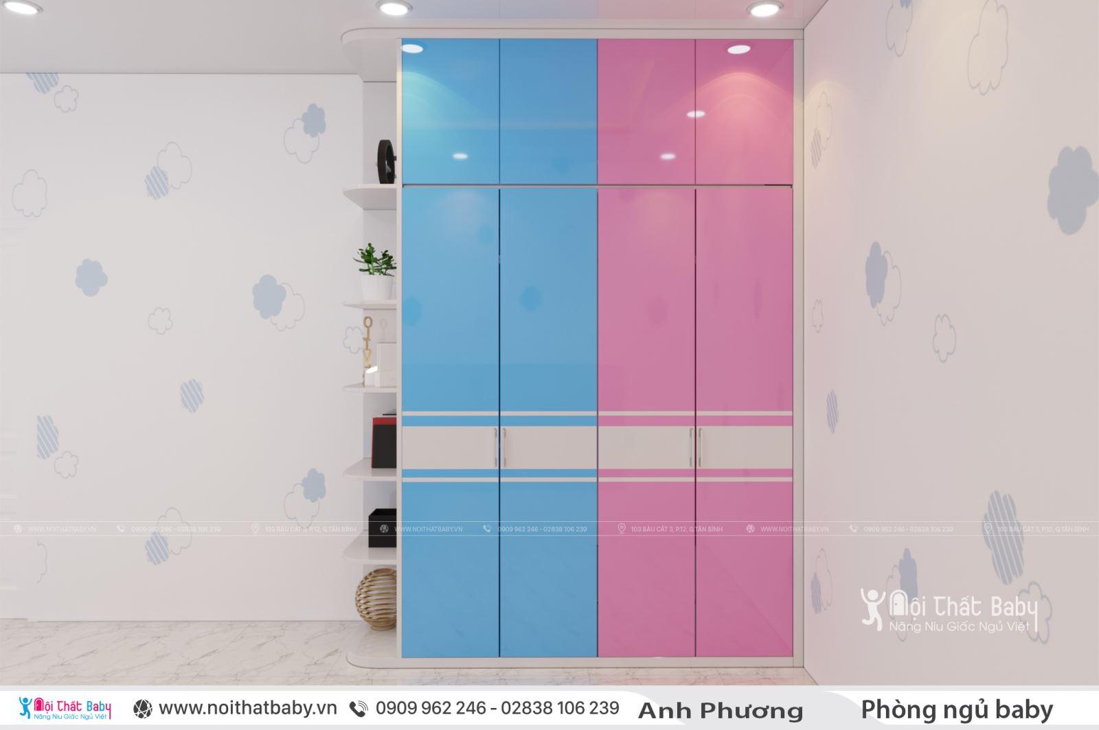 Thiết kế nội thất phòng ngủ cho bé gái dễ thương