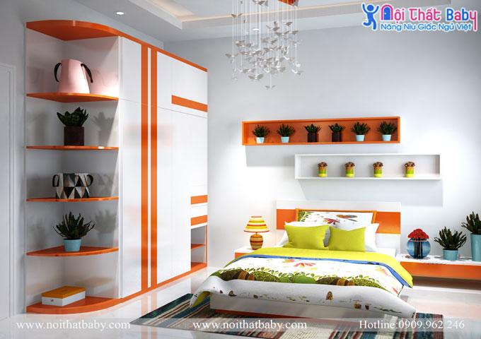Những mẫu phòng ngủ tiện nghi thoải mái và sinh động cho bé