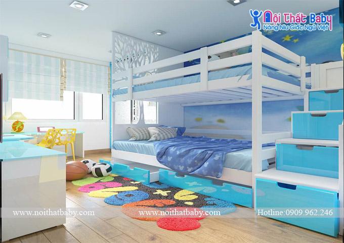 Giường tầng bé trai đẹp