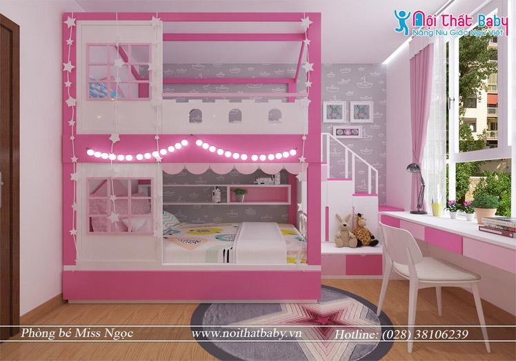 Giường tầng bé gái đẹp