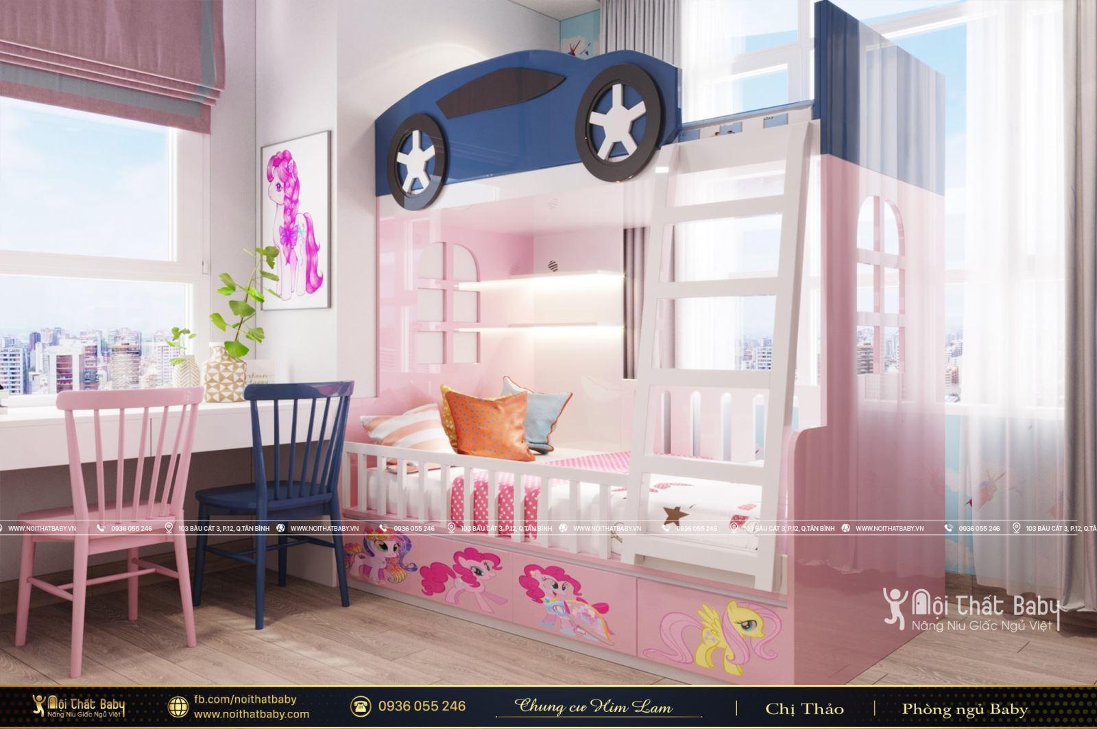 Giường tầng thông minh cho bé căn hộ Him Lam Quận 6