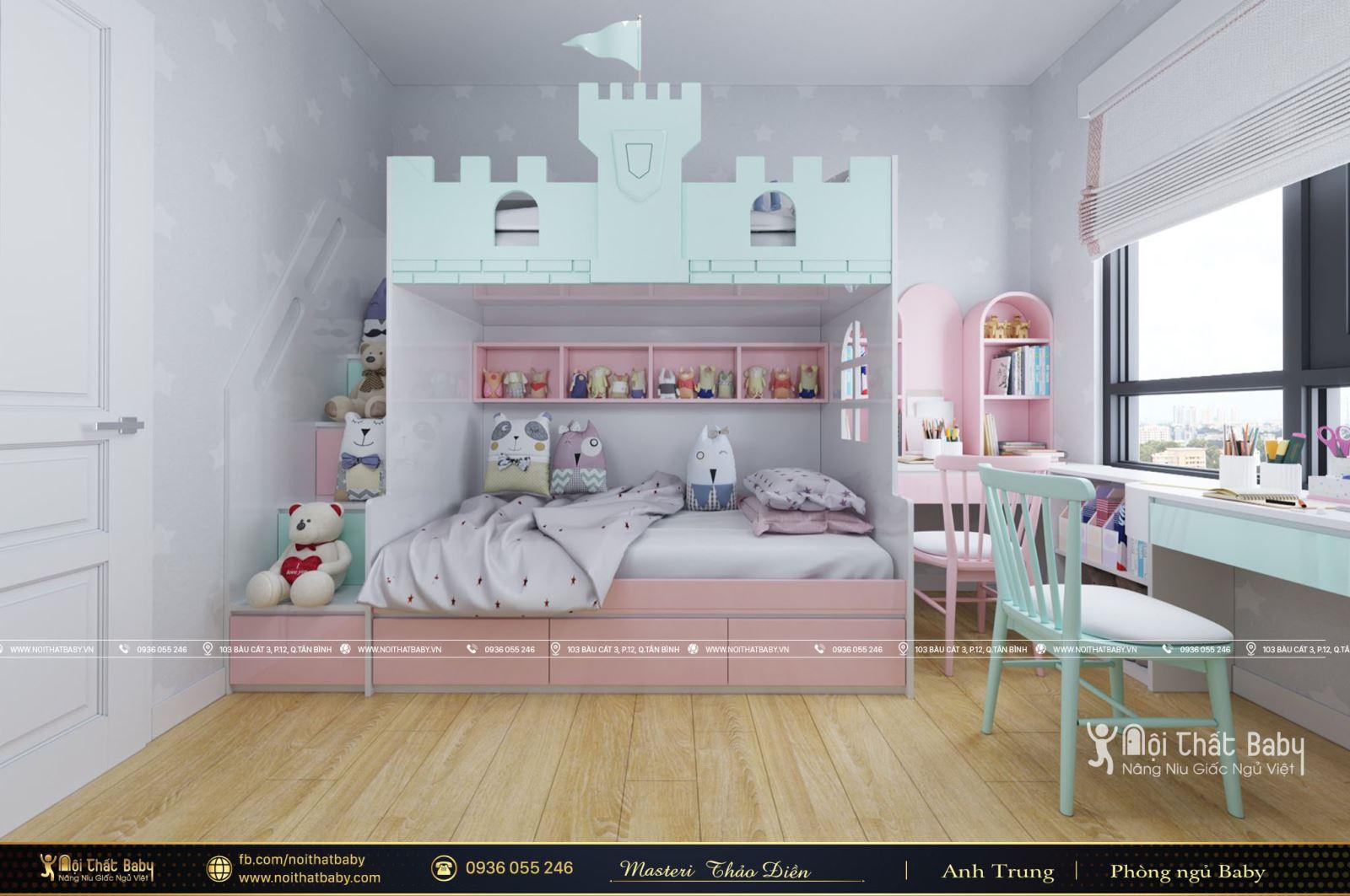 Mẫu Giường Tầng Cho Bé Được Ưa Chuộng Nhất 2021