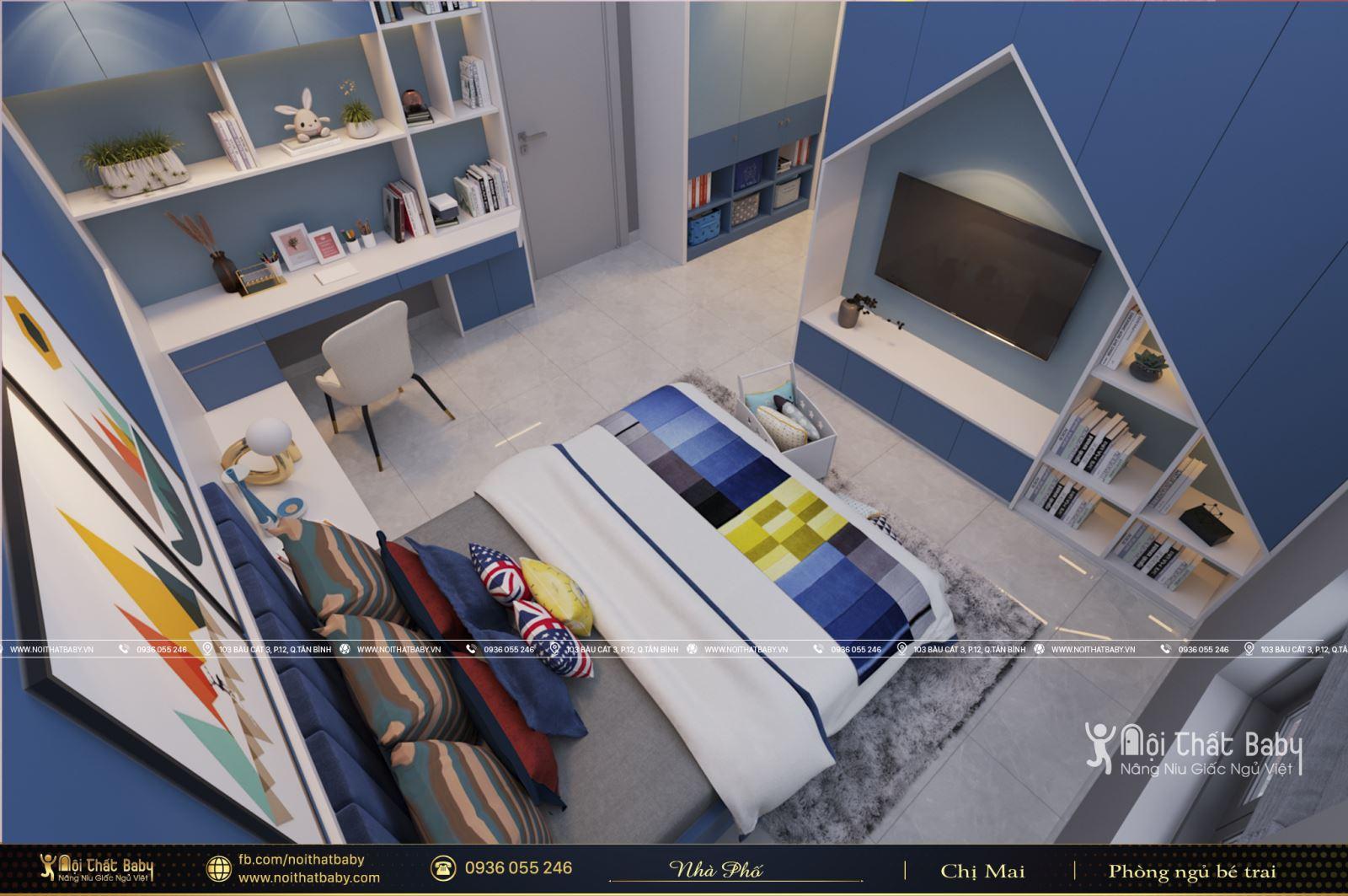 Mẫu phòng ngủ bé trai ấn tượng tại Tây Ninh