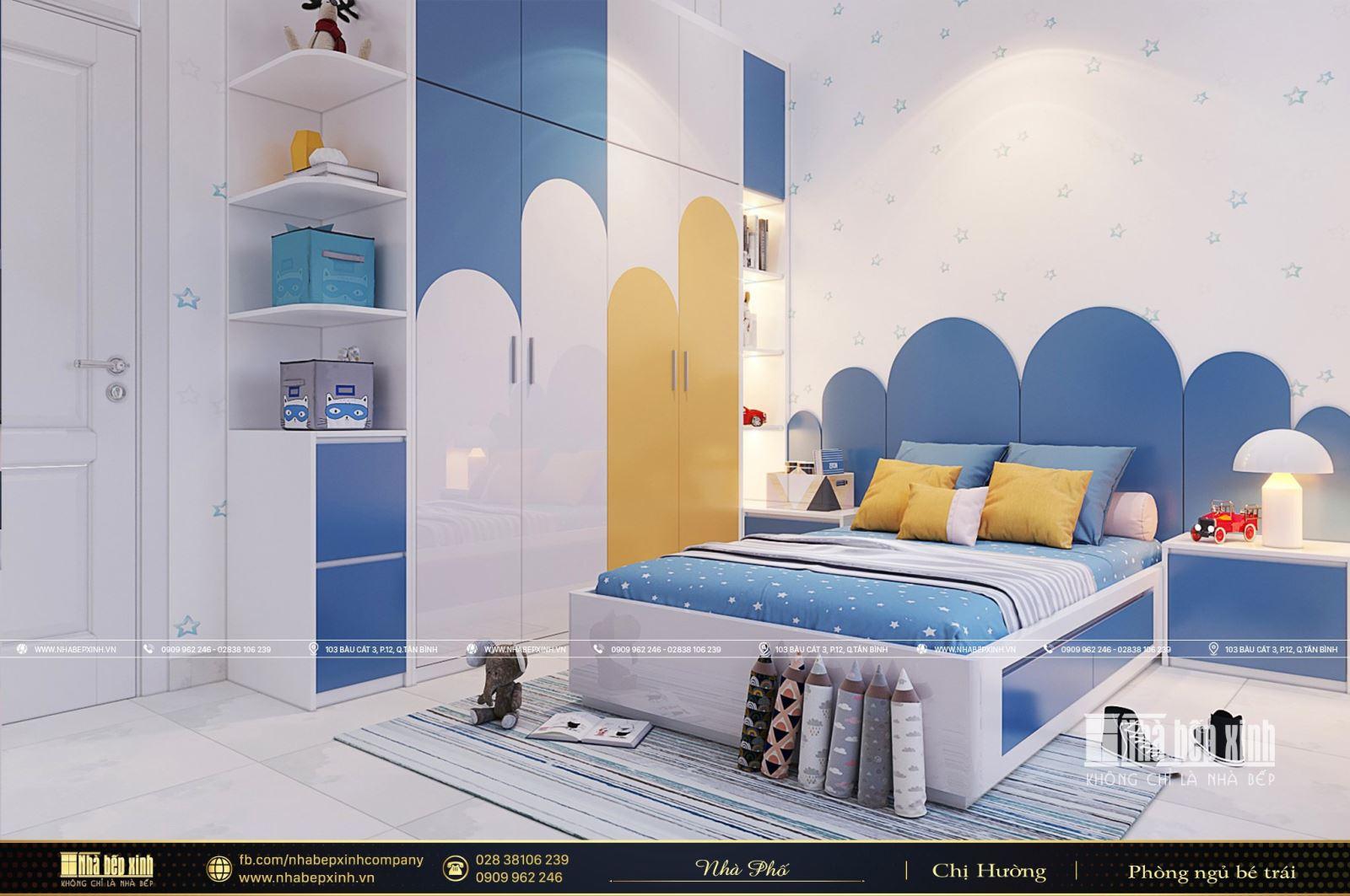Mẫu Phòng Ngủ Bé Trai Theo Phong Cách Hiện Đại 2021