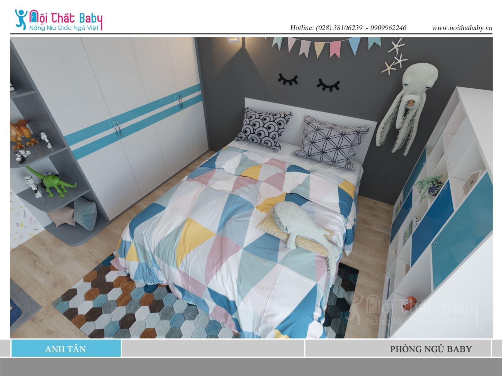 Tổng hợp những mẫu giường ngủ hiện đại cho baby
