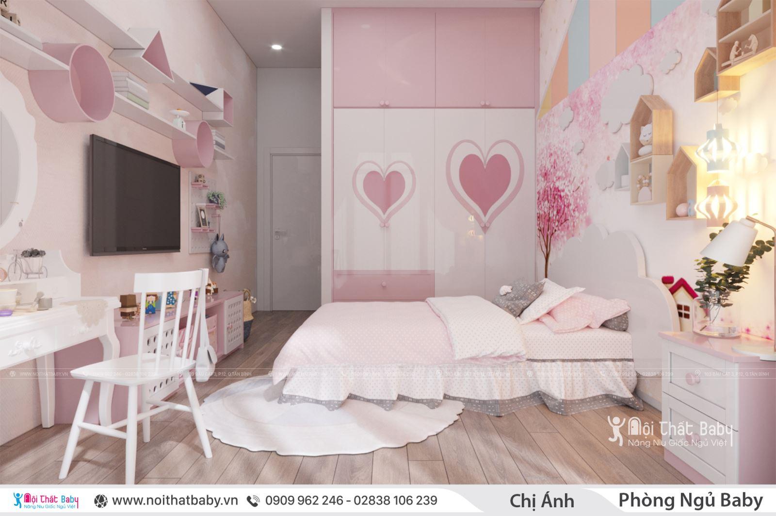 Phòng ngủ công chúa cho con gái bạn