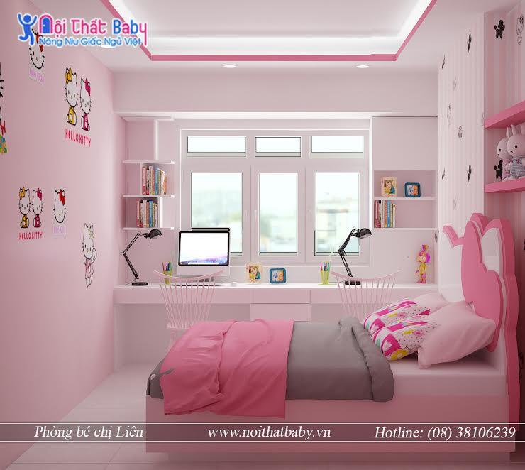Những mẫu giường ngủ Hello Kitty đẹp sống động
