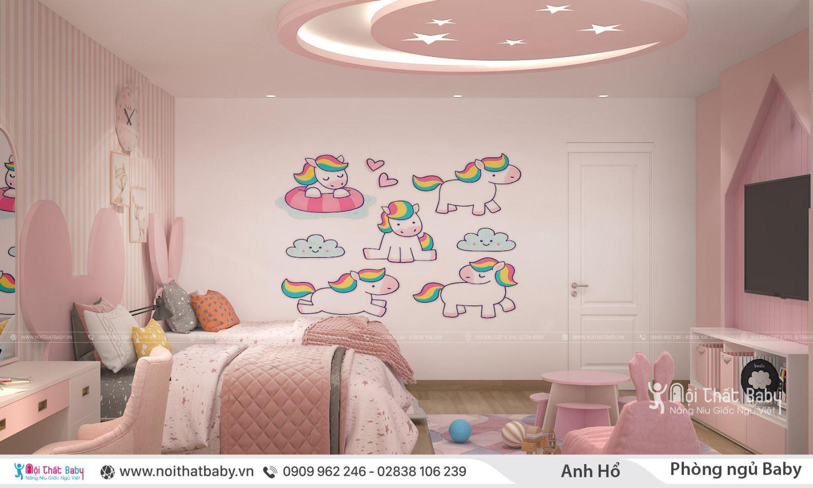 Phòng ngủ cho bé gái 13 tuổi
