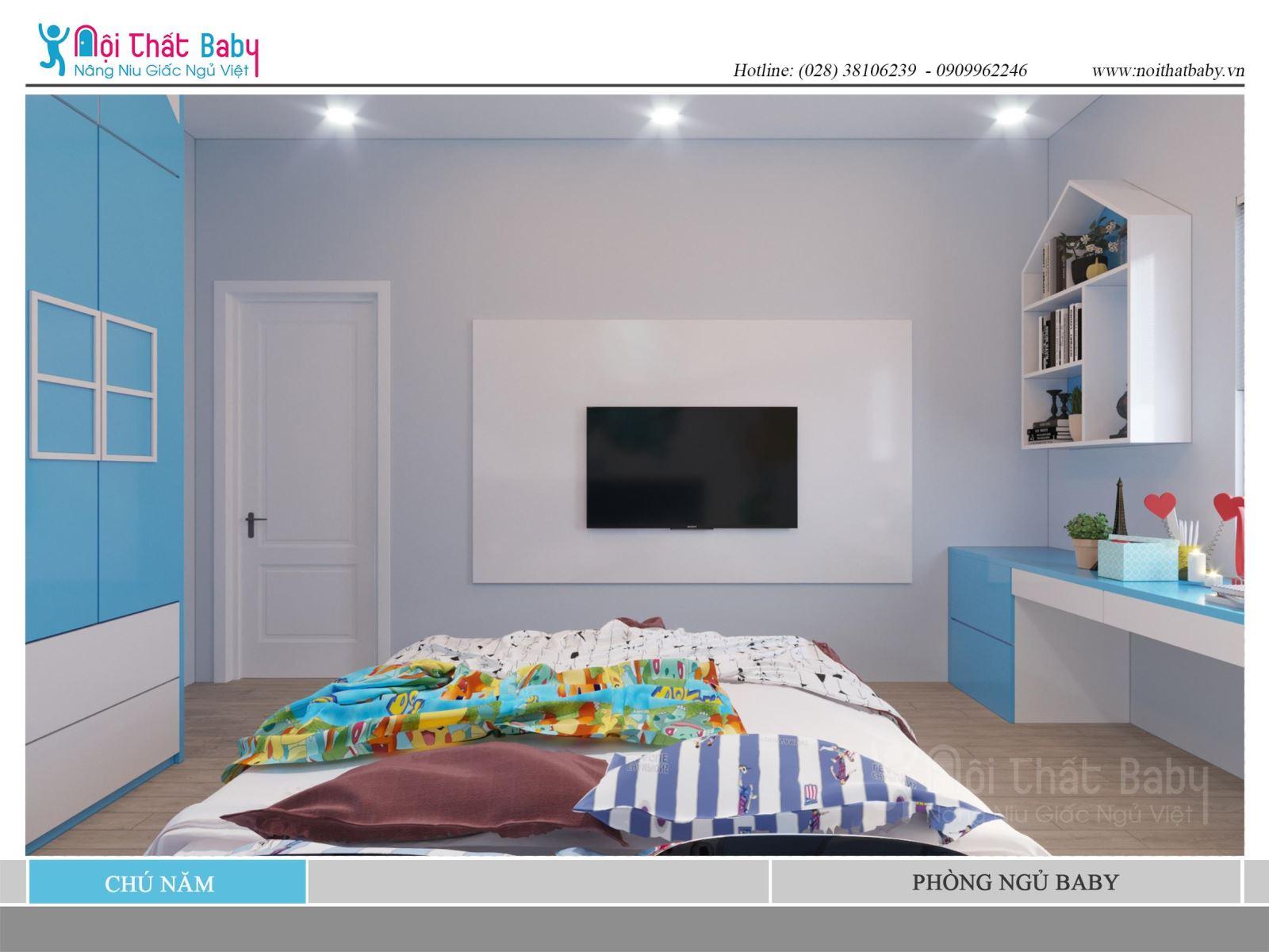 Phòng ngủ bé trai đẹp dễ thương