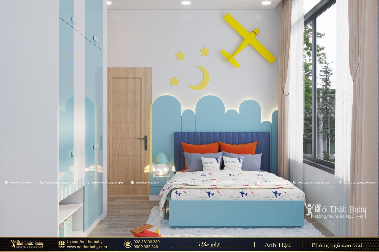 Phòng ngủ bé trai hiện đại tại Hòa Thành - Tây Ninh