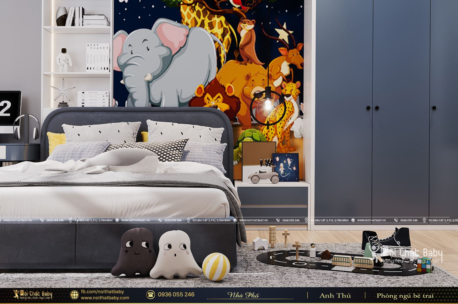Phòng ngủ cho bé trai mà các bậc phụ huynh không nên bỏ qua