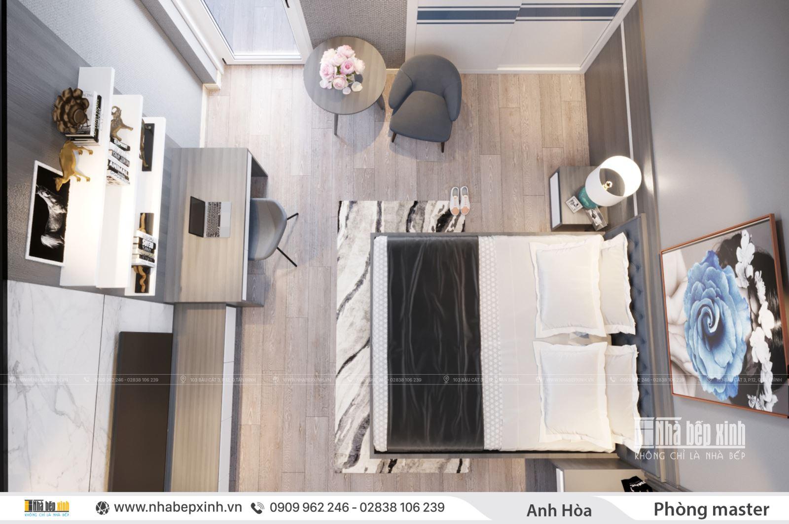 Thiết kế phòng ngủ người lớn đẹp sang trọng