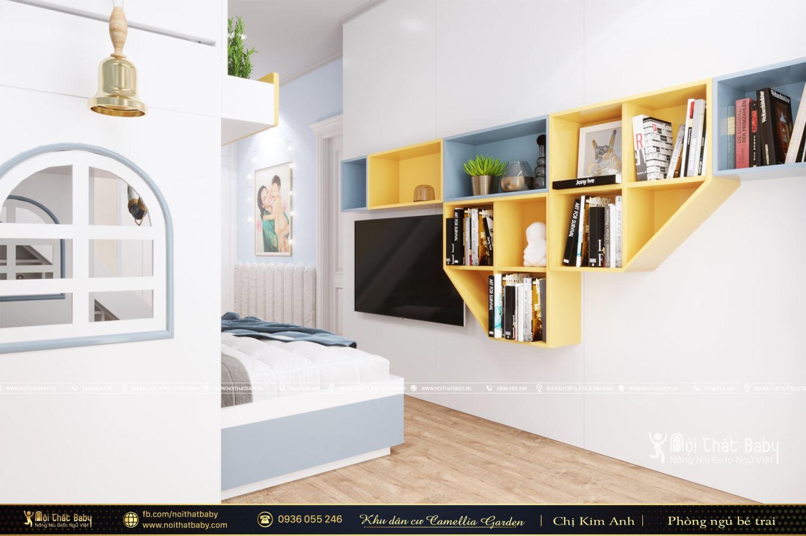 Thiết kế giường tầng cho bé đẹp tại Khu dân cư Camellia Garden