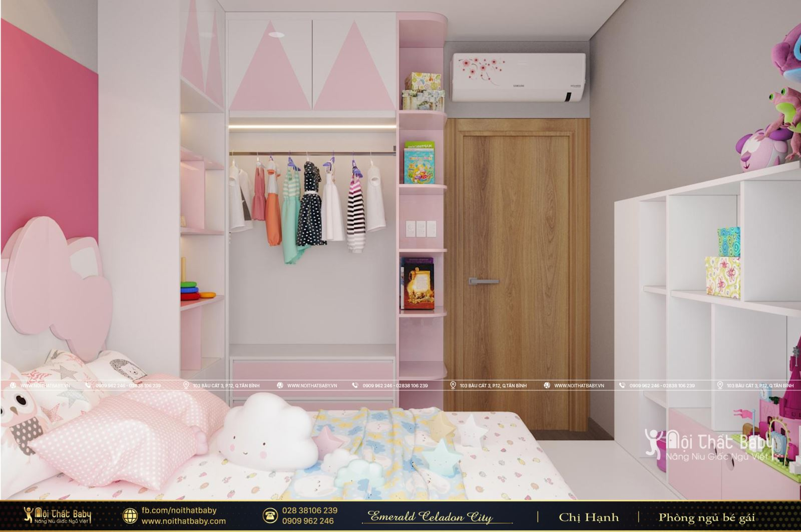 Thiết kế phòng ngủ bé gái đẹp, dễ thương