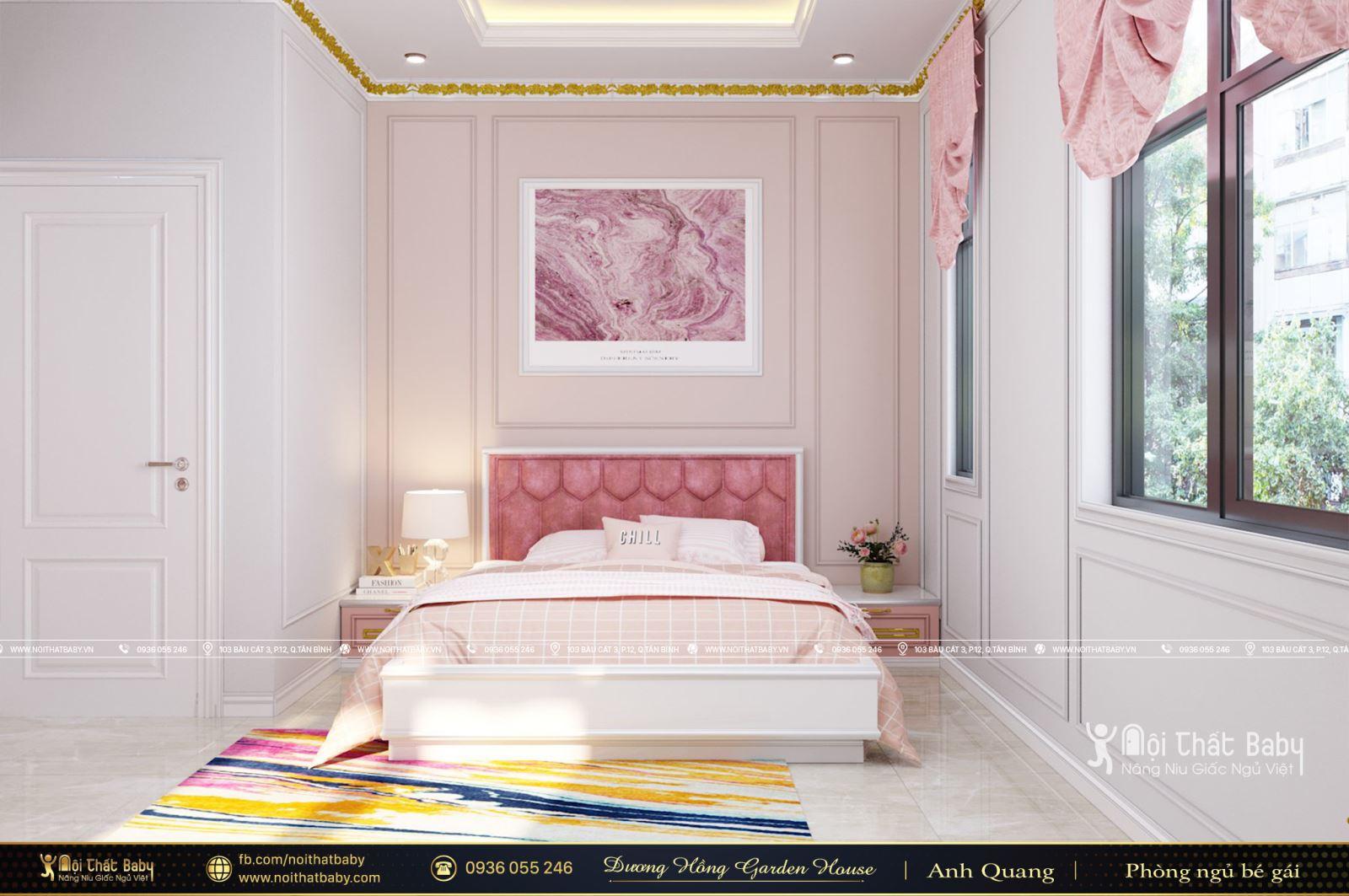 Thiết kế phòng ngủ bé gái tân cổ điển tại Khu dân cư Dương Hồng Garden House