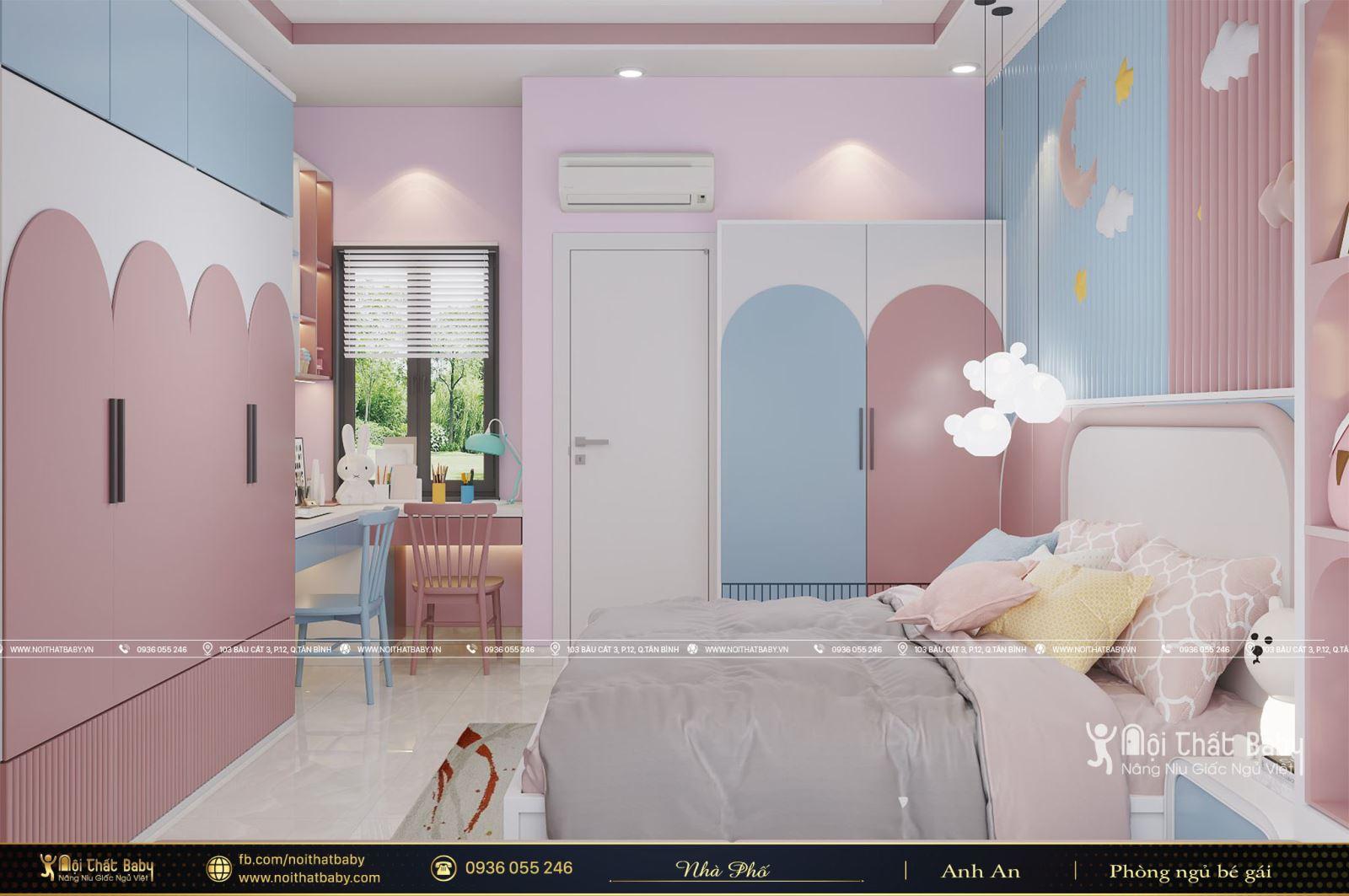 Thiết kế phòng ngủ bé gái tại Quận 9