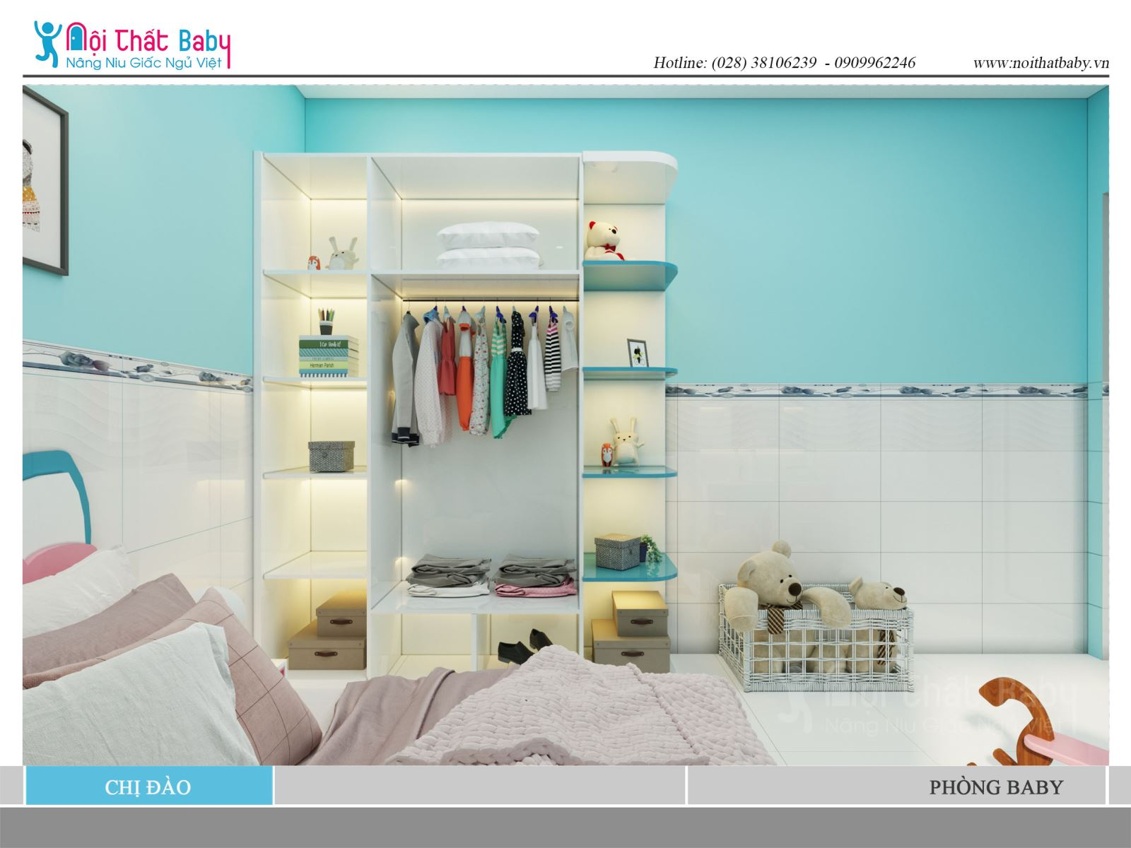 Tổng hợp những mẫu tủ quần áo tiện nghi và đẹp cho căn phòng ngủ baby