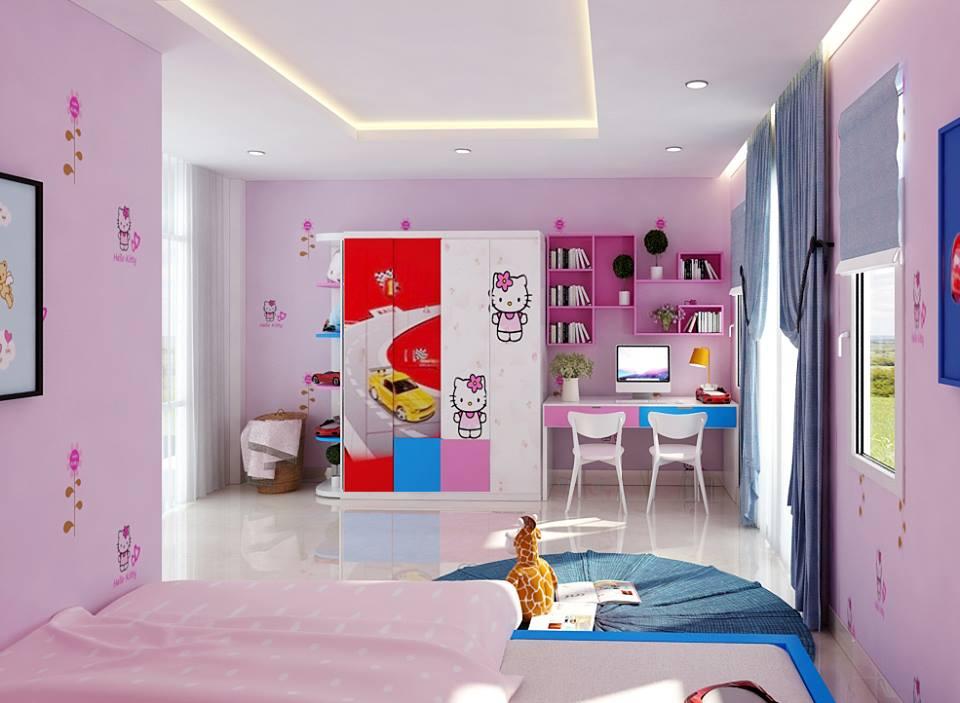 Tủ áo trẻ em Hello Kitty