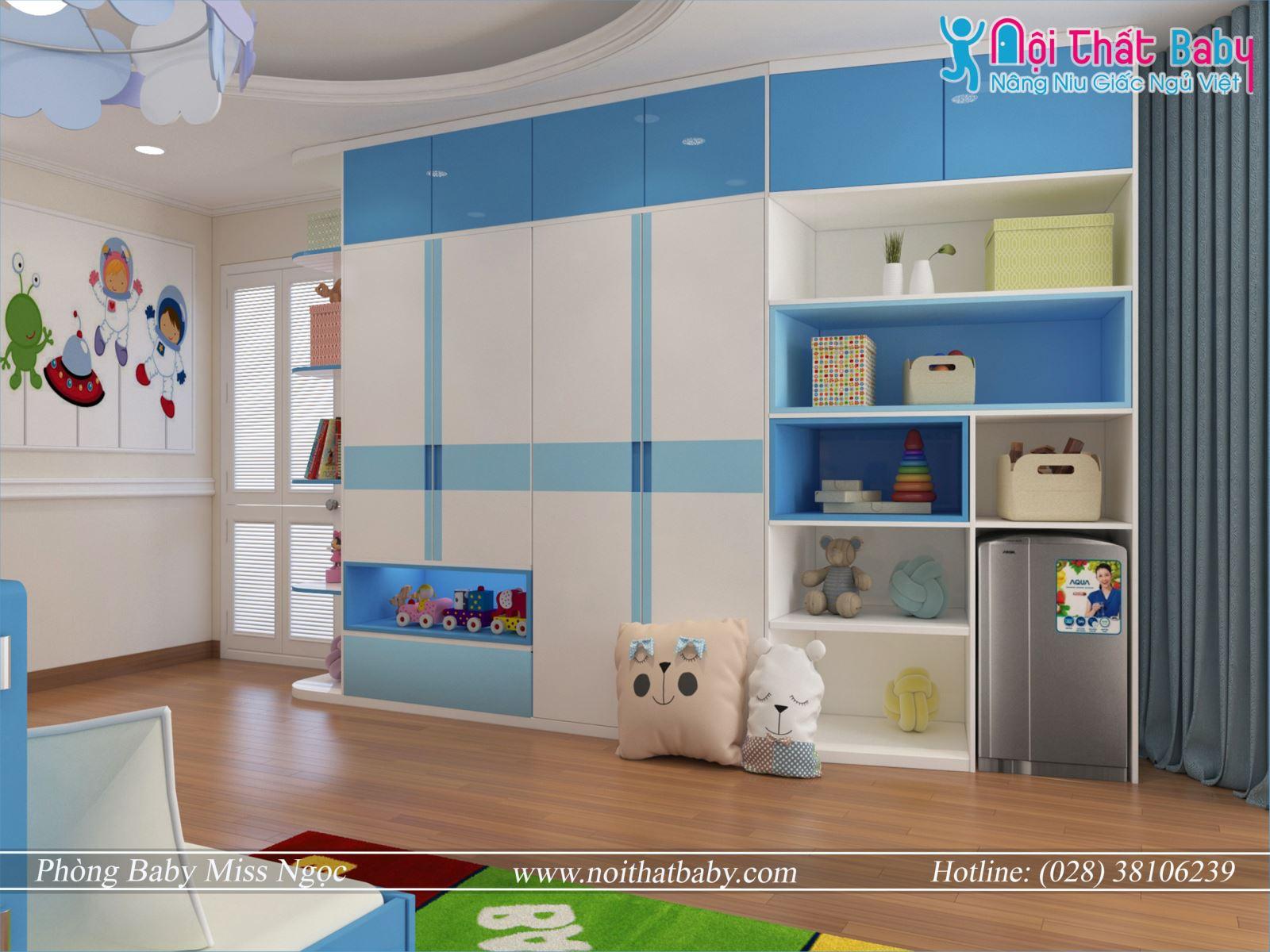 Tủ em trẻ em hiện đại